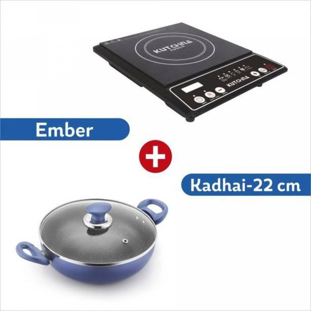 Kutchina by Kutchina Ember plus Kadhai 22 cm Induction Cooktop