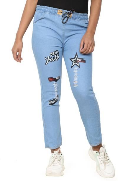 MAEA WOMENS WEAR Boyfriend Women Light Blue Jeans