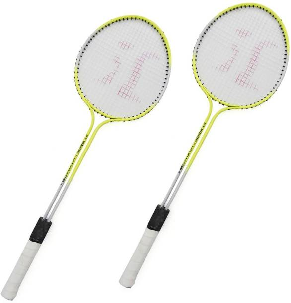 AS Badminton Set Of 2 Piece Racquet with 6 Piece Plastic Shuttle Cock (Badminton Kit) Badminton Kit