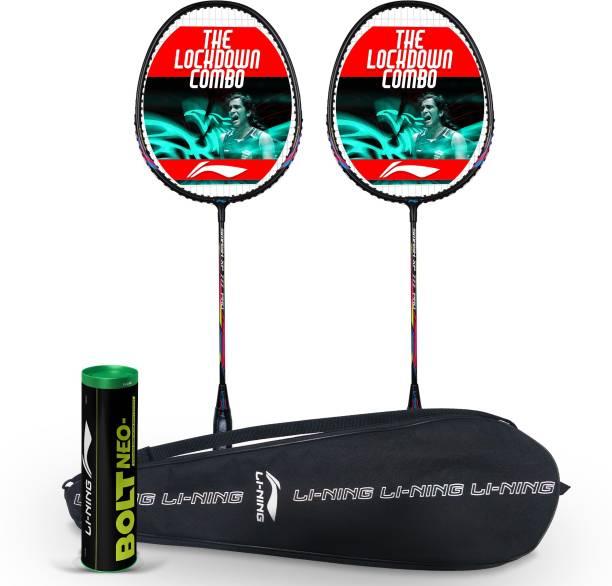 LI-NING Super Smasher Badminton Kit XP PRO 777 & Bolt Neo Nylon Shuttlecock & Badminton Kit