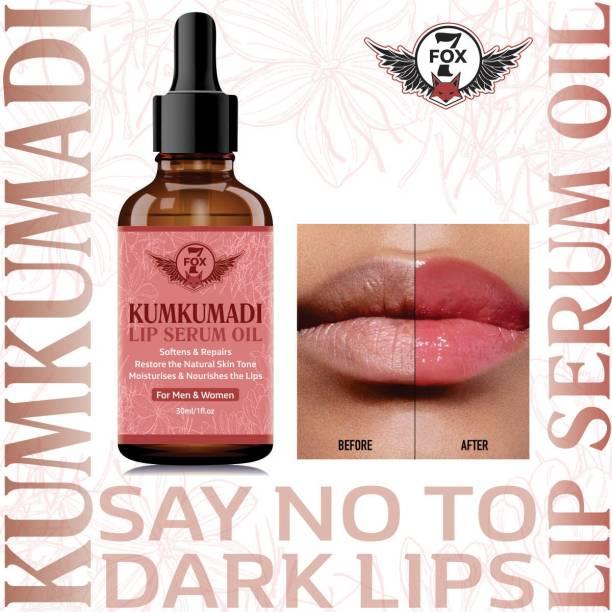 7 FOX Premium Kumkumadi Lip Serum Oil For Glossy & Shiny Lips with moisturisation effet- For Men and Women - Natural