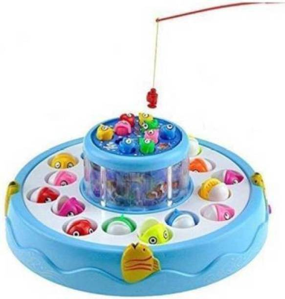 shubhcollection GoGo! Fishing with playing music party function and fun game (Multicolor) (Multicolor)