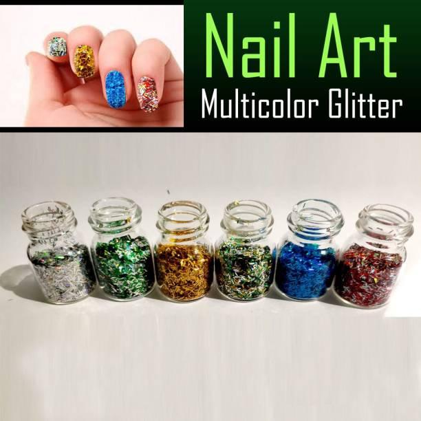 VOZWA Design Multicolor Nail Art Glitter