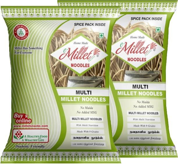 e-Millet Multi Millet Noodles (Pack of 2) Instant Noodles Vegetarian