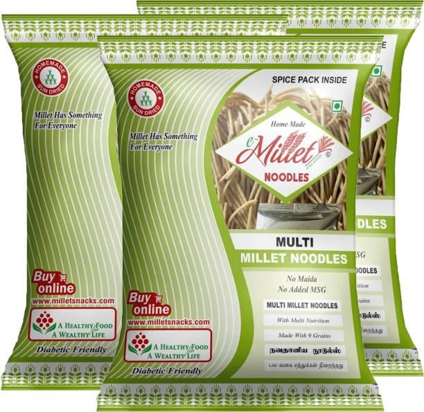 e-Millet Multi Millet Noodles (Pack of 3) Instant Noodles Vegetarian