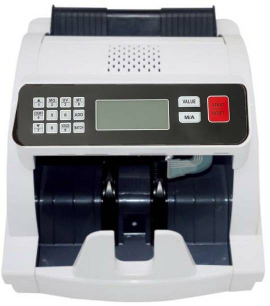 Security Store Manual Value Note/Money/Currency/Cash Counting Machine with MG, UV, IR Fake Note Detection and Upgraded for All New and Old Notes 10,20,50,100,200,500,2000 Note Counting Machine