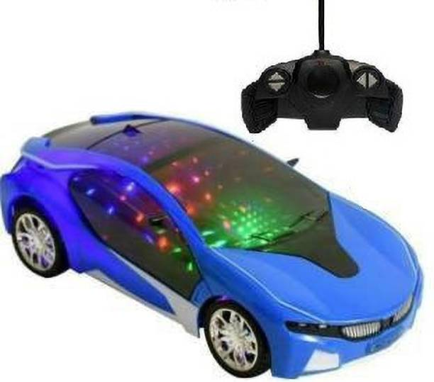 Aao je Chargeable 3D Remote Control Lighting Famous Car for 3+ Years Kids (Multicolor)