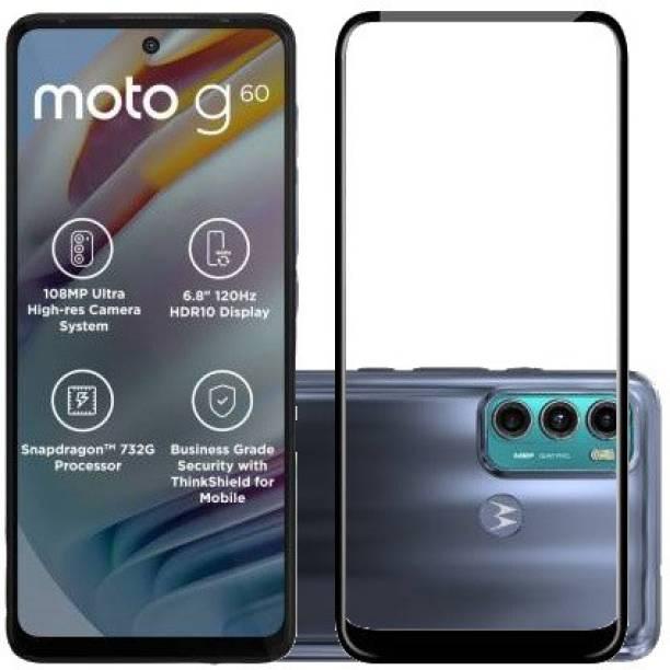 HOBBYTRONICS Edge To Edge Tempered Glass for MOTOROLA G60, MOTO G60, MOTO G40 FUSION, MOTOROLA G40 FUSION