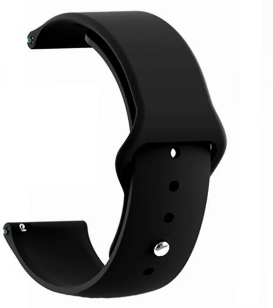 WEWIN Premium Silicone Straps Replacement 20mm Band Straps (Watch Not Included) -Black Smart Watch Strap