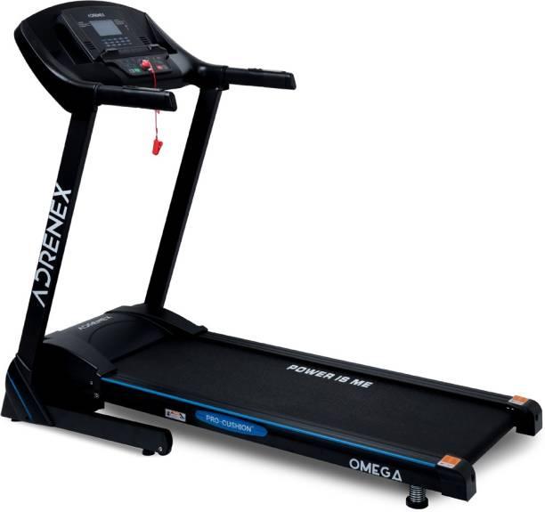 Adrenex by Flipkart Omega Pro 5HP AutoIncline Motorized with Pro Cushioning ( Safe for Knees ),15 Preset Programs Treadmill