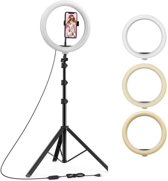 Hypex 7 FT. STAND & 10inch FLASH Ring Light Remote Control 3 Light Modes Tripod Kit