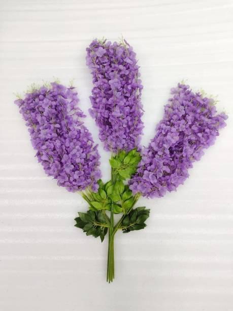 MANSI HANDWORK Purple Westeria Artificial Flower