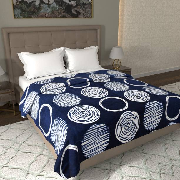 Flipkart Perfect Homes Abstract Double Coral Blanket