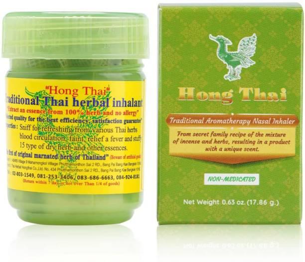 Hong Thai Traditional Thai Herbal Inhalant Inhaler, Nose flow carsick refreshing Essences,Natural 15 Dried Herbal extracts Ayurvedic Inhaler