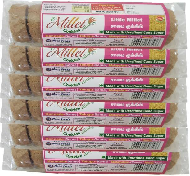 e-Millet Little Millet Cookies EM-09 (Pack of 6) Cookies