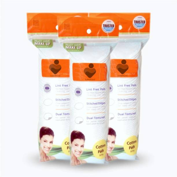 SafeWord Eco-Friendly Bamboo Cotton Organic Round Cotton Pads Skin Care, Beauty Care & Household Purpose