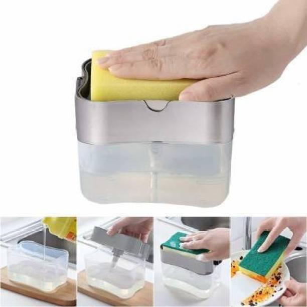 Metro super Liquid Soap Press-Type Pump Dispenser with Sponge Holder Dishwash Bar