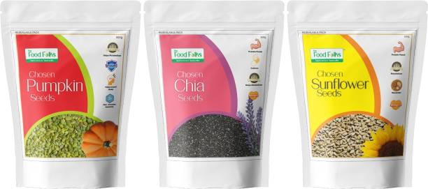 The Food Folks Protein Pack Combo (Sunflower Seeds, Pumpkin Seeds & Chia Seeds) 500g