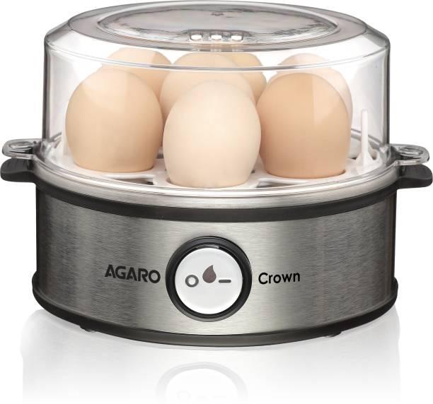 AGARO CROWN EGG BOILDER 360 WATTS WITH STEEL BASE & BPA FREE LID (Steel) 33431 Egg Cooker