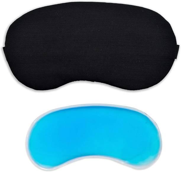 JK ENTERPRISE 1 PC Cooling Ice Gel Sleeping eye Mask for Insomnia, Puffy Eyes and Dark Circles EYE MASK BLACK