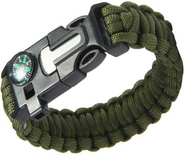 TrustShip Emergency Survival Bracelet Watch,Compass Flint Fire Starter Striker Included Flint Fire Starter Striker Included
