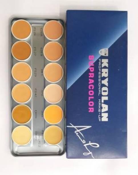 KRYOLAN SupraColor Foundation Palette 12 Color ( Delhi-1 ) Foundation Concealer