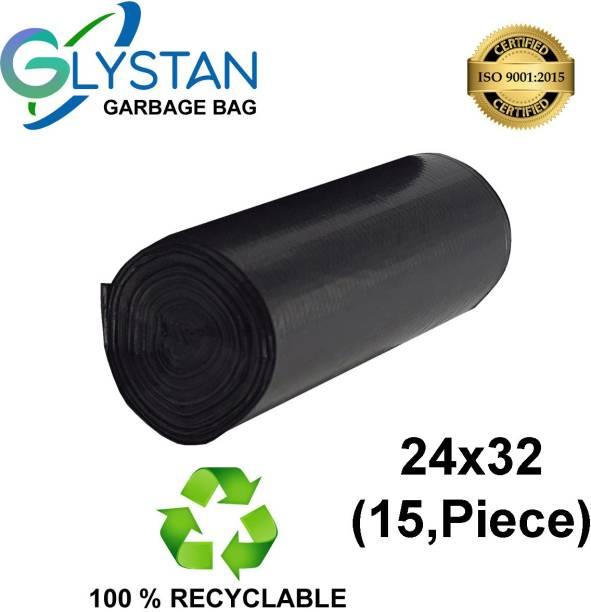 GLYSTAN Garbage bag 24x32 pack of 1x15 ( 15,piece ) size large Large 20 L Garbage Bag