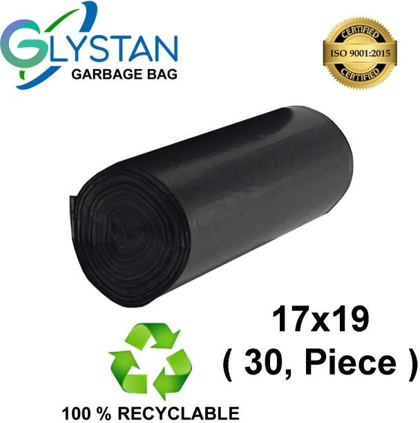 GLYSTAN Garbage bag 17x19 pack of 1x30 ( 30 piece ) size small Small 12 L Garbage Bag