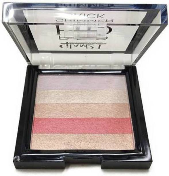 Glam 21 Infallible Total ffect Highlight PaletteEffect Highlight Palette smooth Shine Waterproof Face And Body Highlighter For Women Highlighter