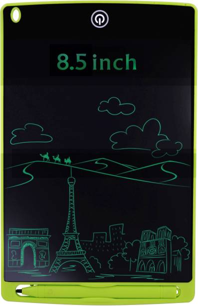 Aseenaa LCD Writing Pad Tablet 8.5 Inch for Drawing with Stylus Pen | Digital Notepad Tab | Electronic Ewriter Teaching Educational Toys Gift for Kids Adults at Home School and Office | Green Colour
