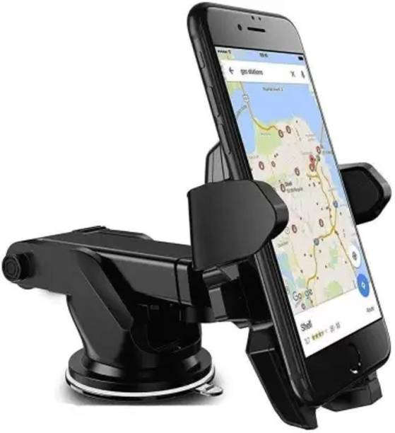 Lehza Universal Silicone Sucker Car Mobile Holder for windshield Dashboard Car Mount Long Neck 360° Rotation with Ultimate Reusable Suction Cup Mobile Stand With Quick One Touch Technology For all Mobiles Phones Mobile Holder