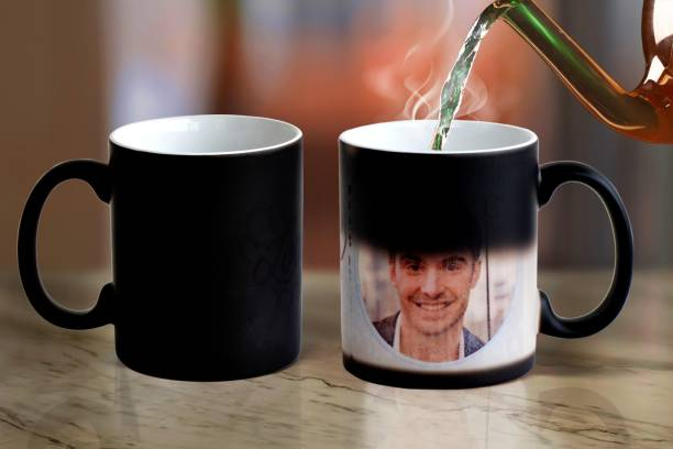 Avi enterprise Personalized Photo and Text Ceramic Cup For Birthday , Anniversary Gift Magic Ceramic Coffee Ceramic Coffee (350 ml) Ceramic Coffee (350 ml) Ceramic Coffee Mug