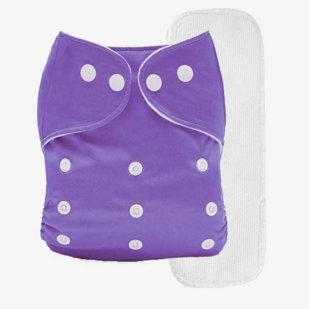 Miss & Chief Reusable Cloth Diaper + Insert (Pack of 1) Purple