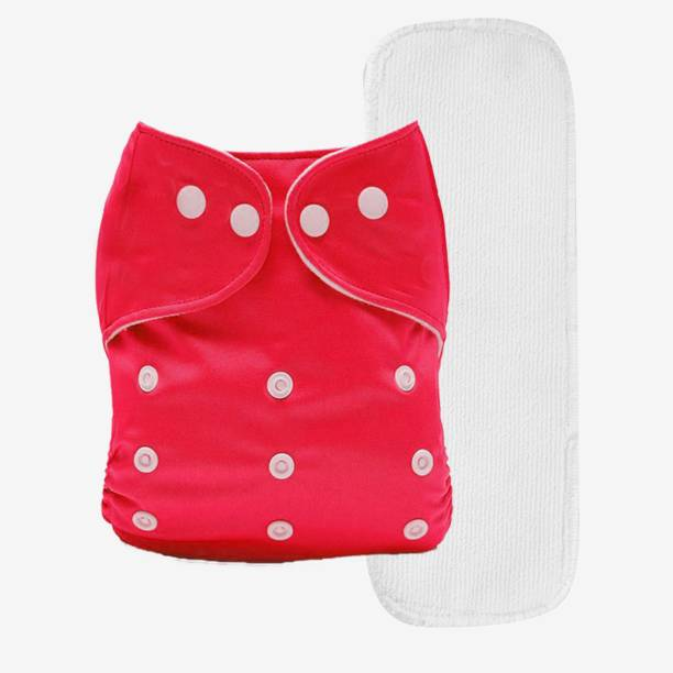 Miss & Chief Reusable Cloth Diaper + Insert (Pack of 1) Red