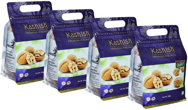 Kashish Premium California Jumbo Inshell Walnuts/Akhrot (Walnut with Shell) 2KG Pack Walnuts