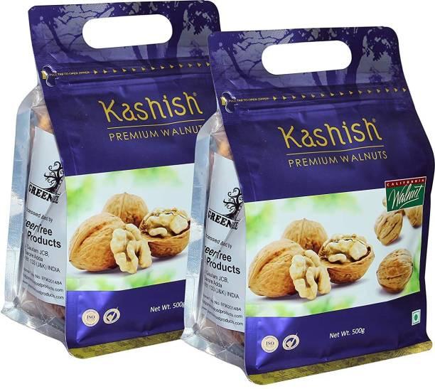 Kashish Premium California Jumbo Inshell Walnuts/Akhrot (Walnut with Shell) 1KG Pack Walnuts