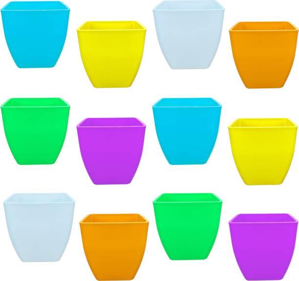"""TechHark 5"""" Inch Free Standing Pots Home And Garden Décor Flower Pot, Cactus Pots Plant Container Set"""