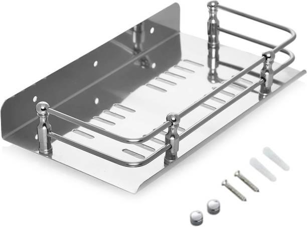 Flipkart SmartBuy Stainless Steel Bathroom Shelf Rack / Kitchen Shelf / Wardrobe Shelf / Shampoo Perfume Rack / Kitchen Rack Steel Wall Shelf