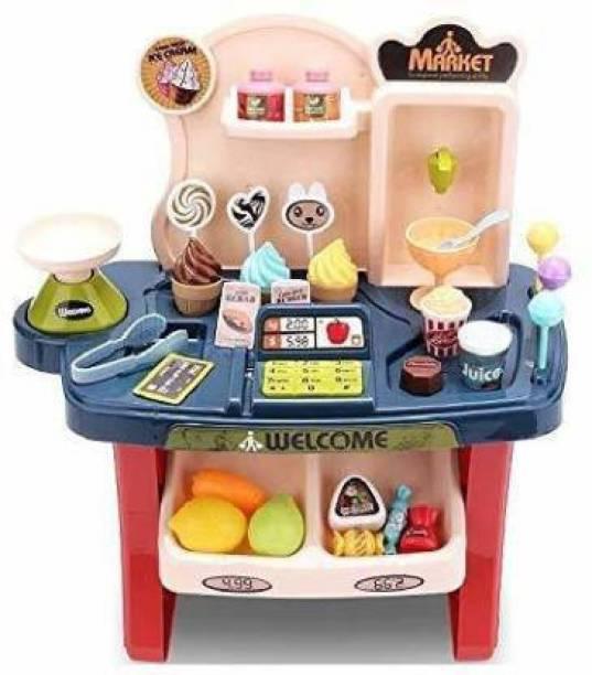 Satyay MINI Candy Cart Sweet Super Mini Market Shop Toy