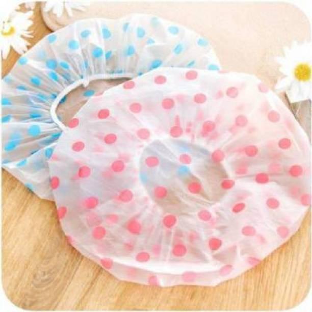 FOR 1 STORE Waterproof Elastic Printed Plastic Reusable Shower Caps