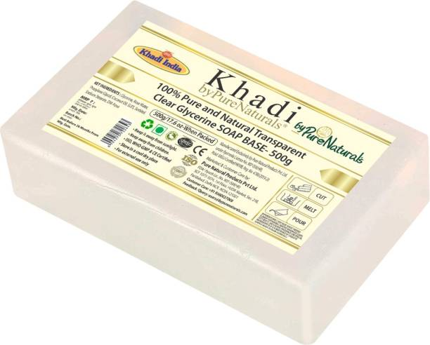 byPurenaturals Khadi Natural and Transparent Clear Glycerin Pour And Melt Soap Base For Soap Making