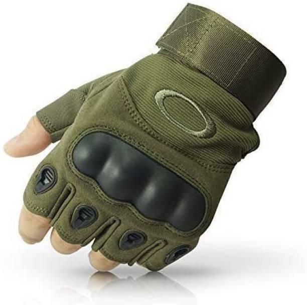 IVAR Nylon Tactical Half Finger Gloves for Sports Gym & Fitness Gloves