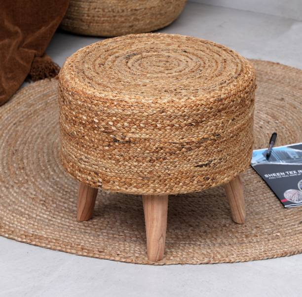 sheen decor Solid Wood Pouf
