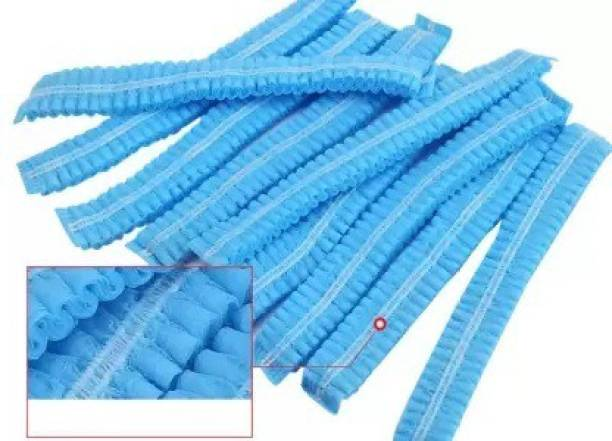 RRHR SALES Pack Of 100 Blue Disposable Stretchable Non Woven Hygiene Surgical Head Cap, Cooking Caps, Bouffant Caps, Surgical Cap for Cosmetics, Beauty, Kitchen, Cooking, Home Industries, Hospital Surgical Cap Surgical Head Cap Surgical Head Cap