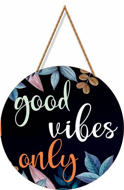 Brothers creation Good Vibes Only Wall Name Plate