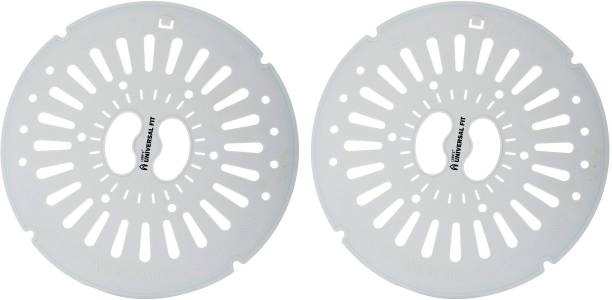 LSRP's Universal Fit Spin Cap Suitable With LG 6KG To 7KG Washing Machine - Spin Cover - Spinner Safety Cover - Dryer Safety Lid (24.5CM/9.6IN Diameter) - Grey - Pack Of 2 Caps Washing Machine Net