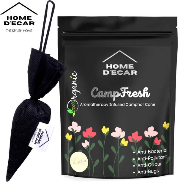 Home Decar Camp-Fresh Aromatherapy Infused Camphor Cone Citrus Blend Diffuser Set