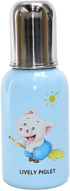 WAHHSON 3 in 1 Baby Feeding Bottle Thermo-Steel Multifunctional-Sipper, Nipple & Straw, Baby Feeding Bottle, Baby Milk Feeding Bottle, Water Feeding Bottle - 250