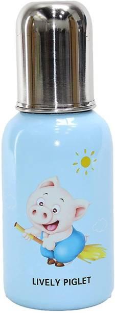 WAHHSON 3 in 1 Baby Feeding Bottle Thermo-Steel Multifunctional-Sipper, Nipple & Straw, Baby Feeding Bottle, Baby Milk Feeding Bottle, Water Feeding Bottle - 250
