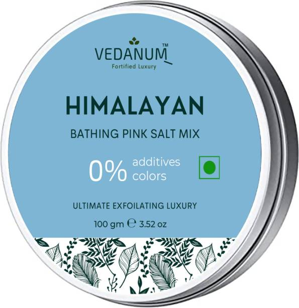 Vedanum Himalayan Pink Bath Salt with Exfoliating Minerals